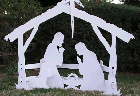 wood nativity plans