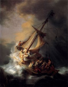 Storm on sea of Gailee Rembrandt 1633